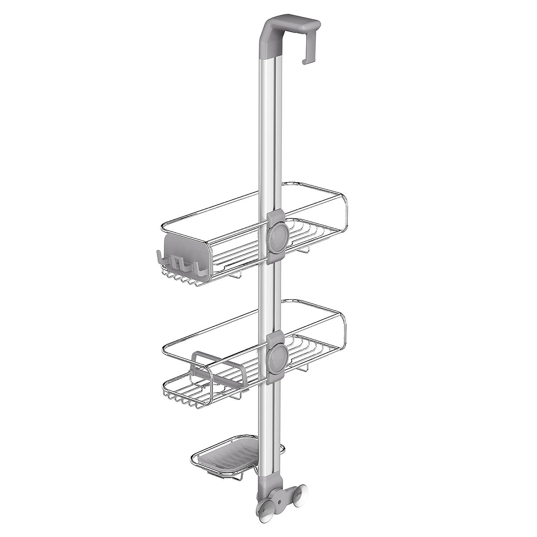 Amazon.com: simplehuman Adjustable Over Door Shower Caddy, Rust ...