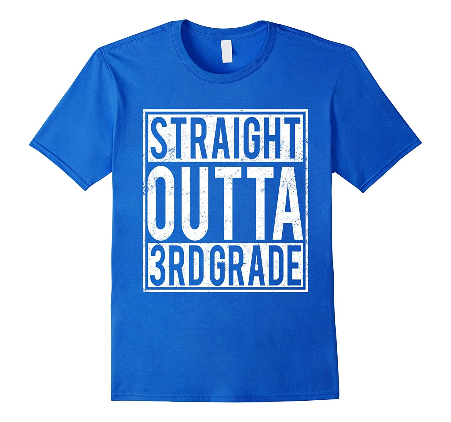 Straight Outta 3rd Grade T-shirt Funny High School-CD