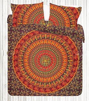 Sophia Art Indien Rouge Elephant Mandala Housse De Couette Hippie