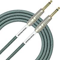 Kirlin Cable Straight Premium Plus Cable de instrumento, Conector recto de 1/4 pulgadas, Ol, 10 feet