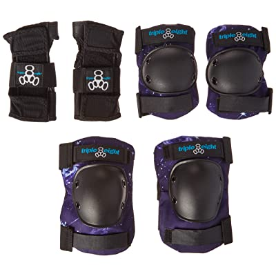 Triple Eight Galaxy Kid's Pad Set with Wristguards/Elbow/Knee : Sports & Outdoors