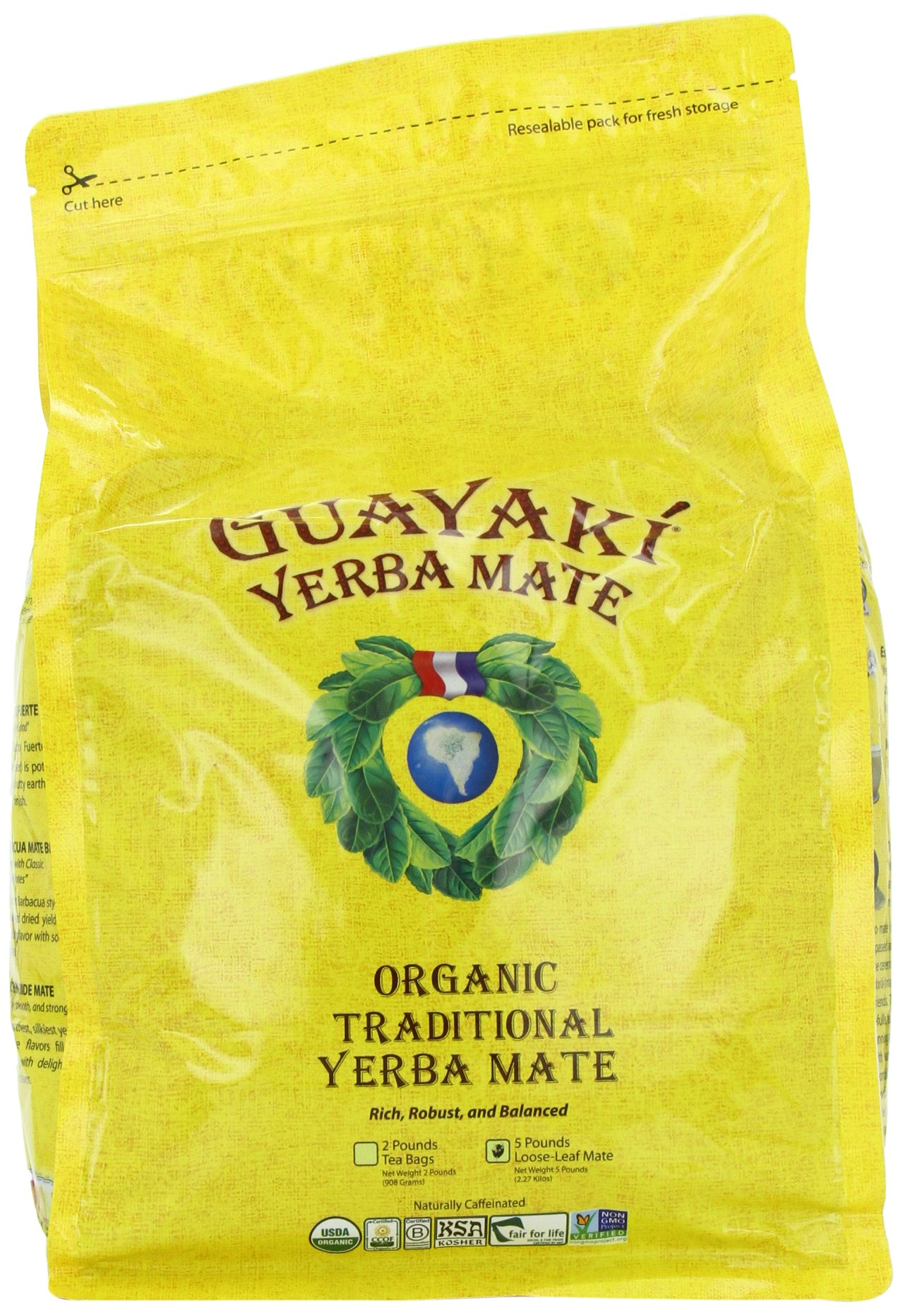 Guayaki Traditional Yerba Mate Tea, 5 Pound by Guayaki (Image #1)