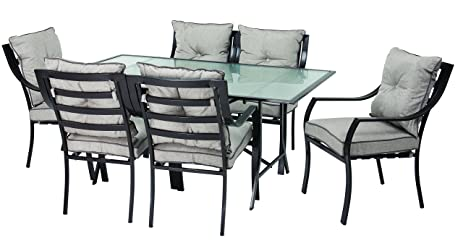 hanover odla7pccugl lavallette 7piece outdoor dining set