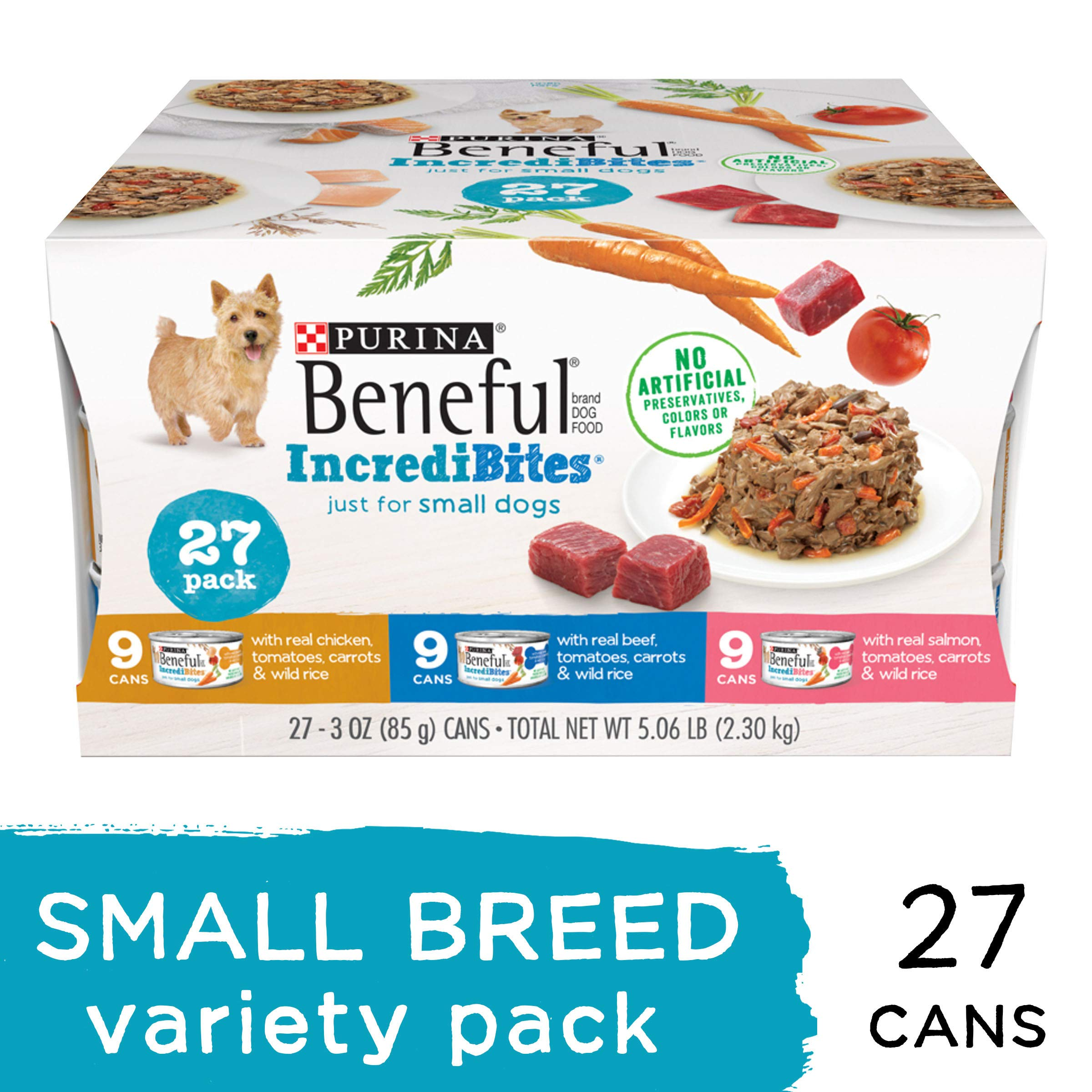 Purina Beneful Small Breed Wet Dog Food Variety Pack, IncrediBites - (27) 3 oz. Cans by Purina Beneful