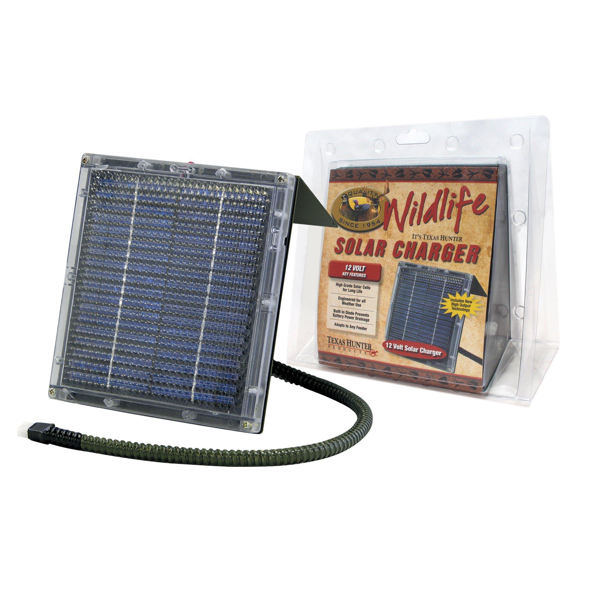 Texas Hunter 12-Volt Solar Charger for Wildlife Feeders - Model SP12C