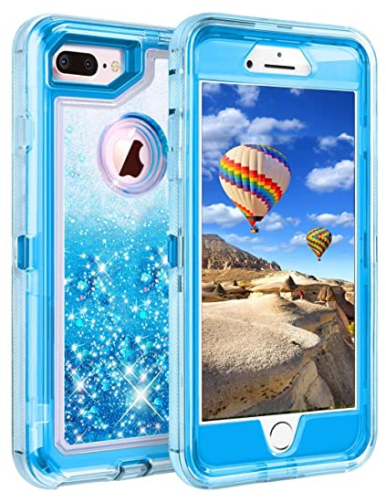 apple iphone 8 plus case blue