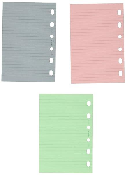 Filofax Pocket - Recambio para agenda de anillas, hojas rayadas para notas, color verde