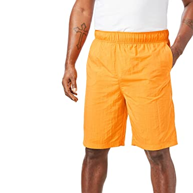 2183b058fa KingSize Men's Big & Tall Classic Swim Trunks, Flame Orange ...