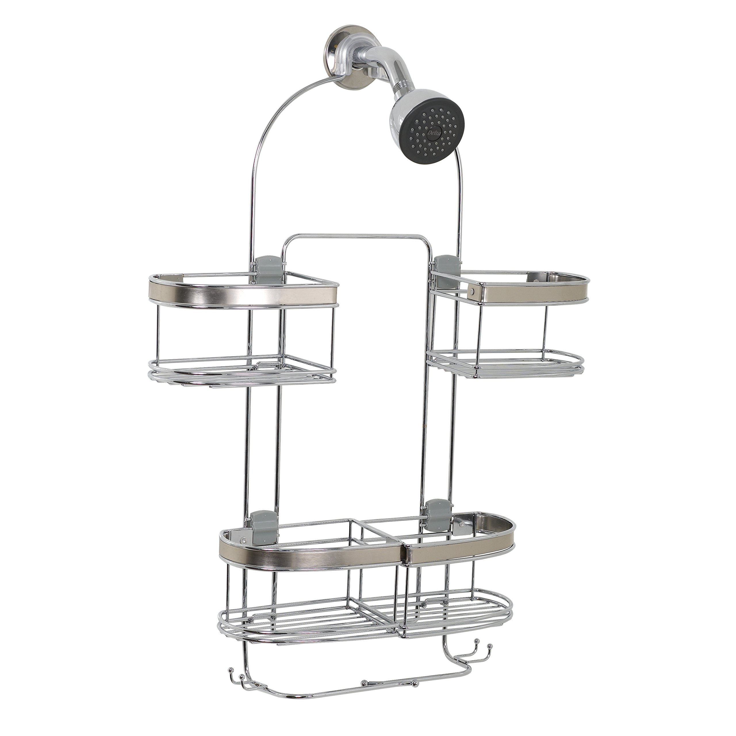 Zenna Home E7546STBB, Expandable Over-The-Showerhead Caddy, Stainless Steel by Zenna Home