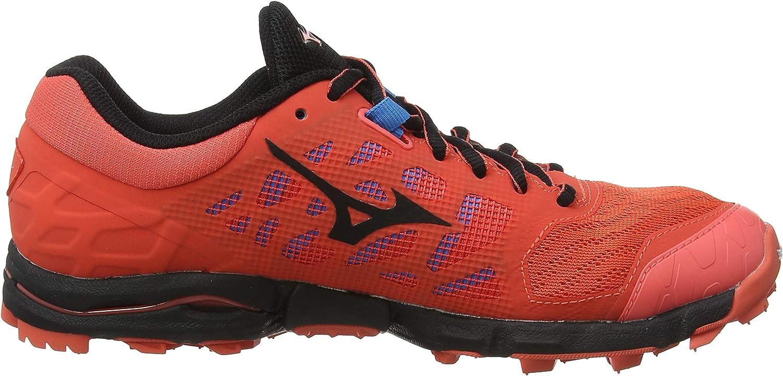Mizuno Scarpe da Trail Running Uomo Colore Nero Corallo.