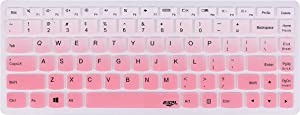 """Leze - Ultra Thin Silicone Laptop Keyboard Cover Skin Protector for Lenovo G40-70,B40-80,Y40,Y40-80,IdeaPad 100S 14"""",300S 14"""",500 14"""",500S 14"""",Y700 14isk,FLEX 3 14,Flex 2,Flex 14 - Gradual Pink"""
