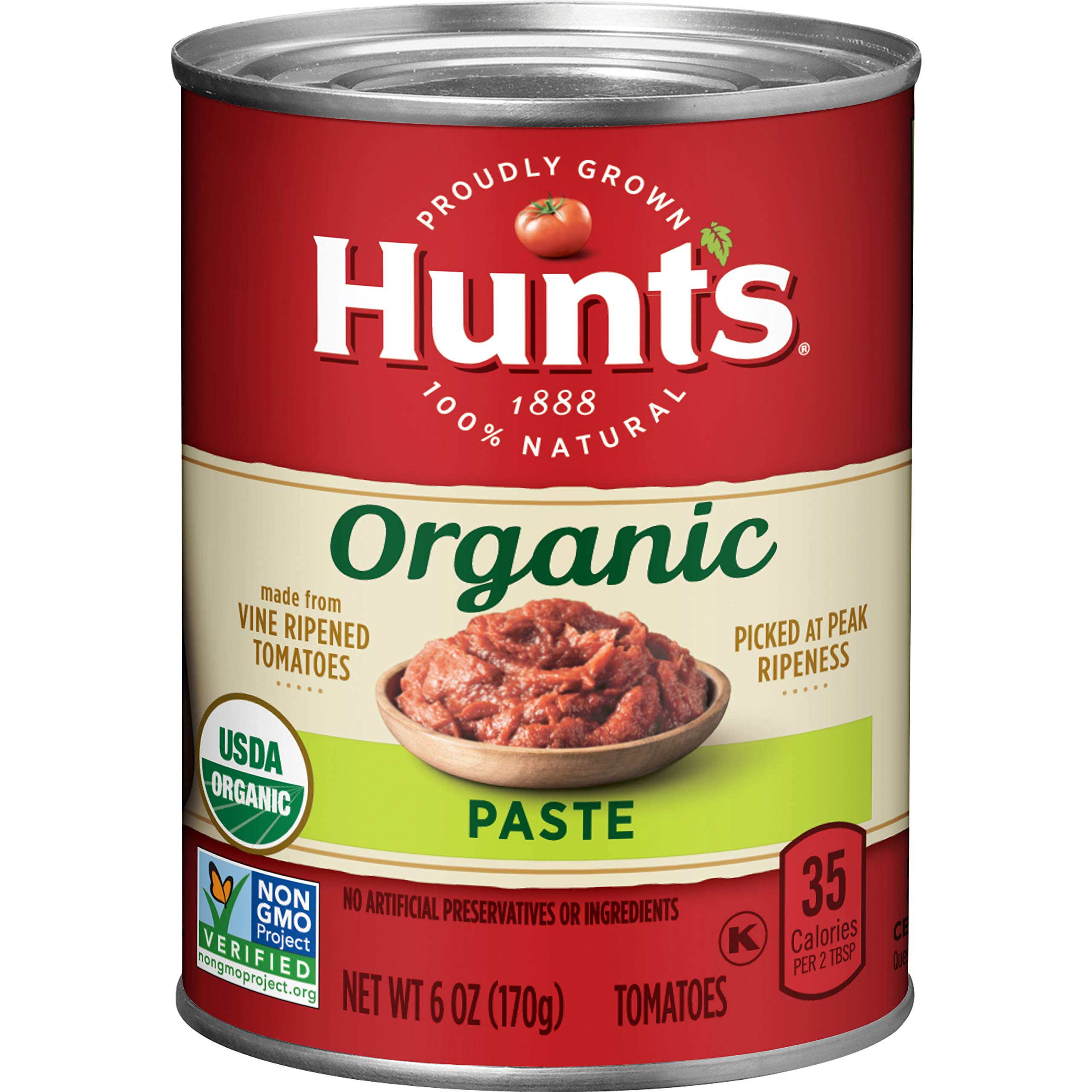 Hunt's Organic Tomato Paste, 6 oz, 24 Pack