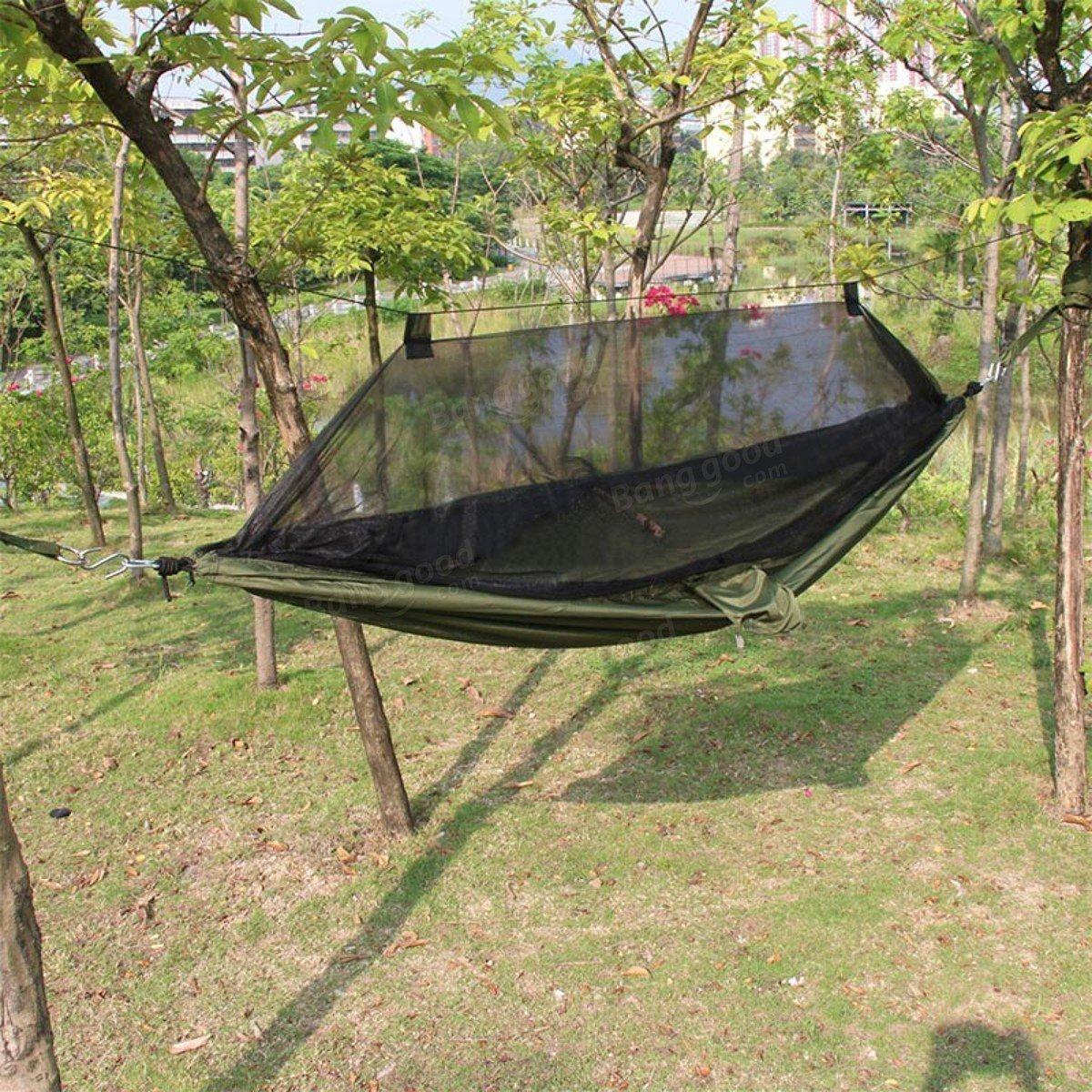 Tenting Hummock - Outdoor Portable Camping Hammock Swing Hanging Sleeping Bed Mosquito Net - Encampment Hillock Bivouacking - 1PCs