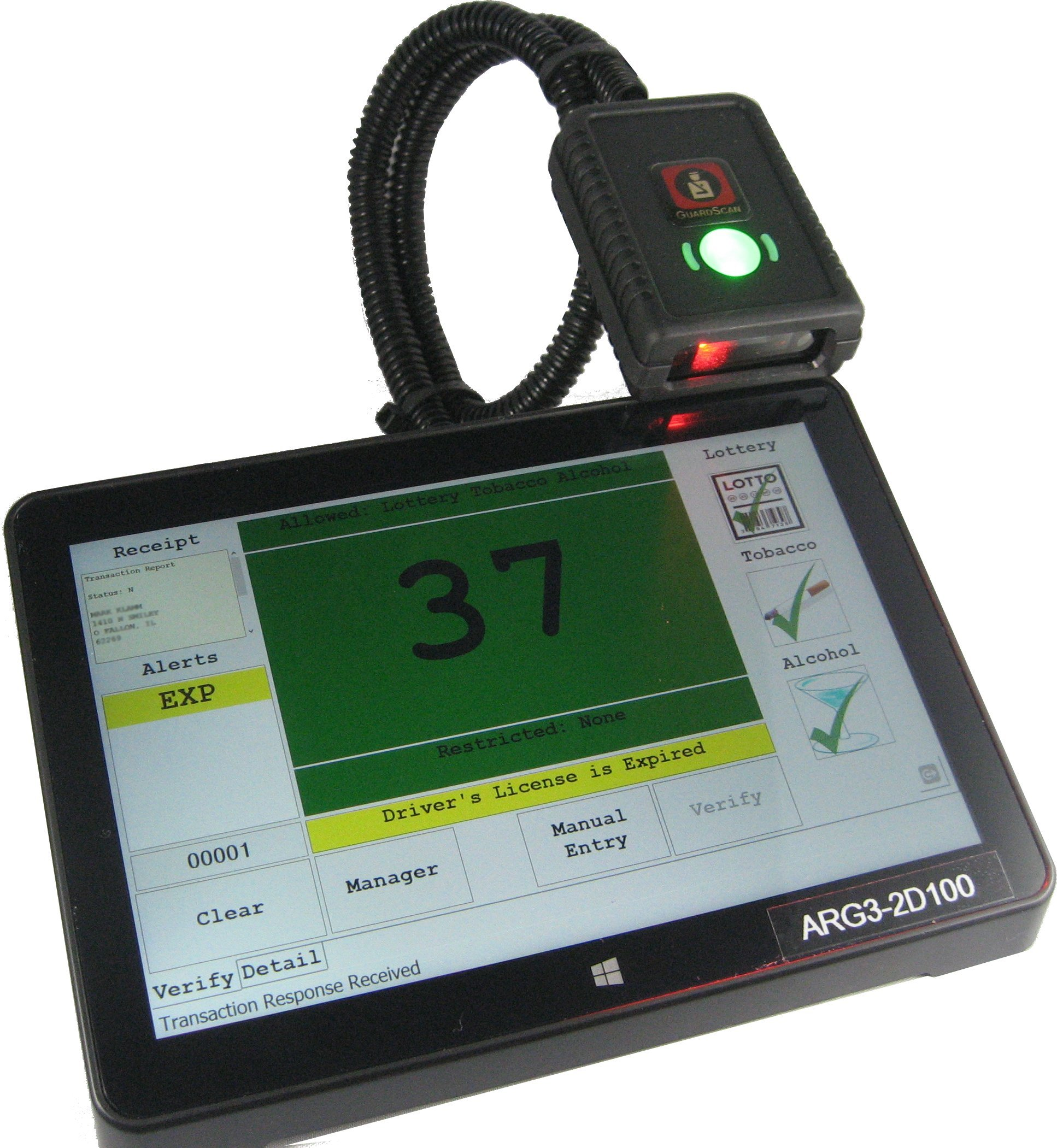 ASGS-1: Age Verification and Visitor Management System with Built-In Reports and 2D-Scanner
