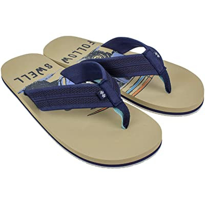 IZOD Mens Flip Flop Sandals, Beach and Pool Sandals for Men Classic Summer Beach Styles, Mens US Size 8 to 13   Sandals