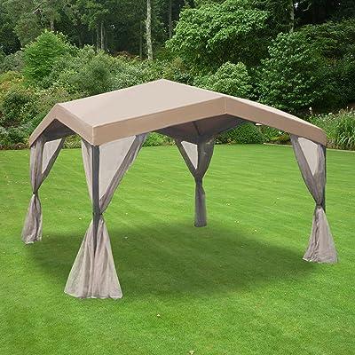 Garden Winds Ashley Gazebo Replacement Canopy Top Cover - RipLock 350 : Garden & Outdoor