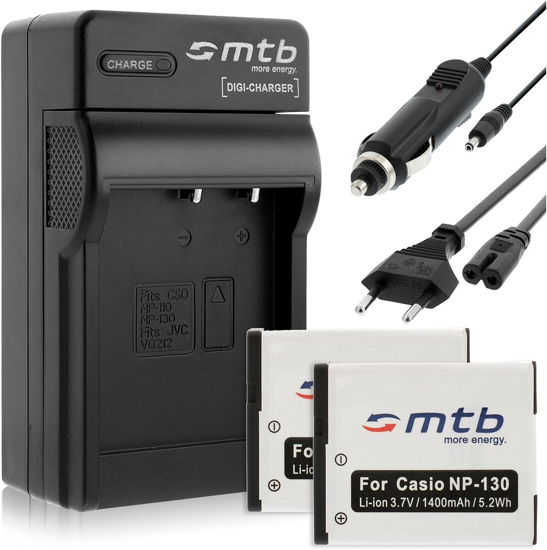 2 Akkus Ladegerät Für Casio Np 130 Kamera