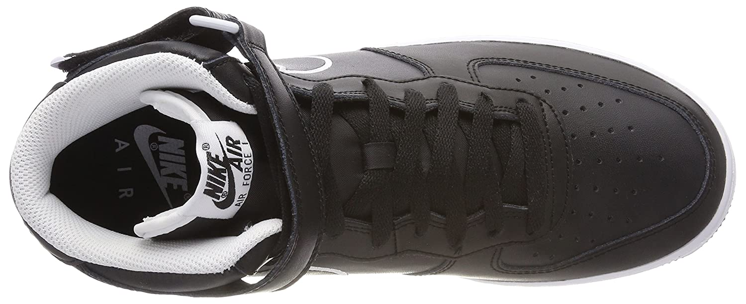 Amazon.com   Nike Air Force 1 Mid 07 Leather Mens Shoes Black/White aq8650-001 (10 D(M) US)   Basketball