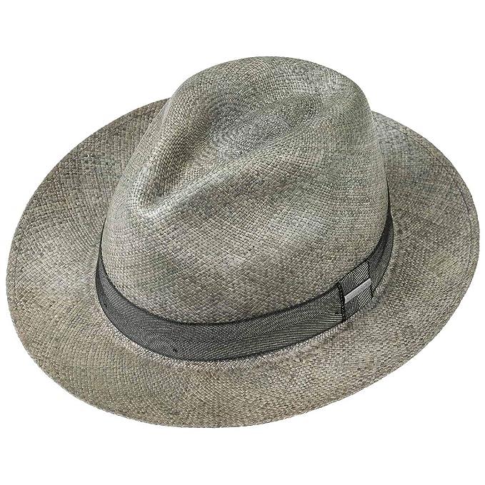 Stetson Cappello Panama Zamora Fedora Paglia Estivo da Sole  Amazon.it   Abbigliamento c7084370c1be
