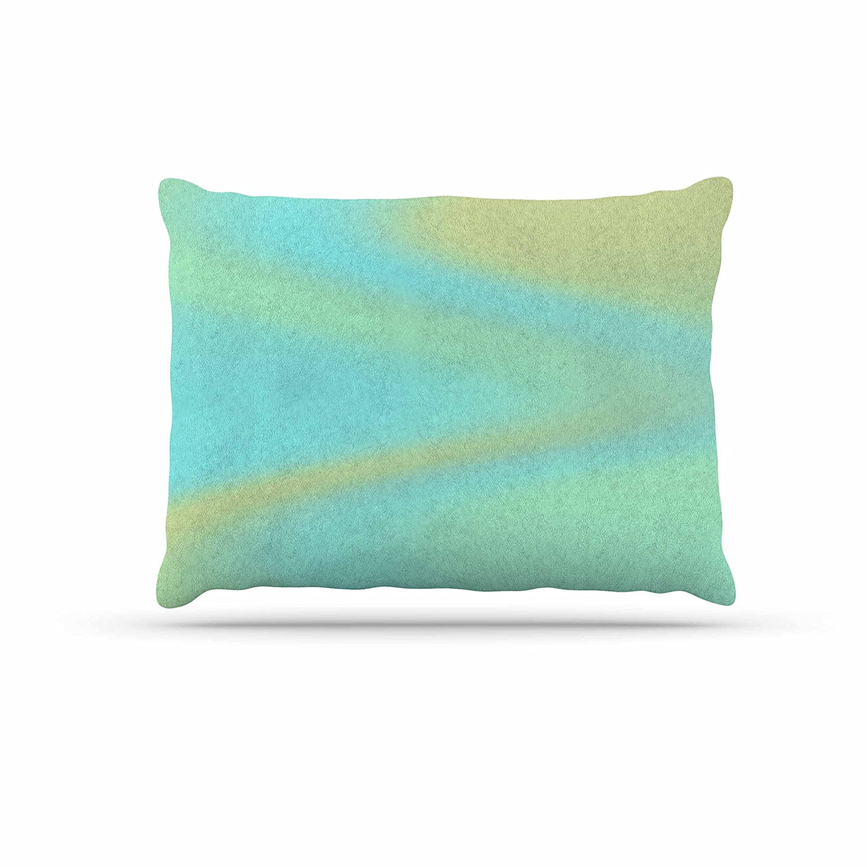 KESS InHouse Sylvia Coomes Sea Mosiac Aqua Yellow Dog Bed, 50  x 40