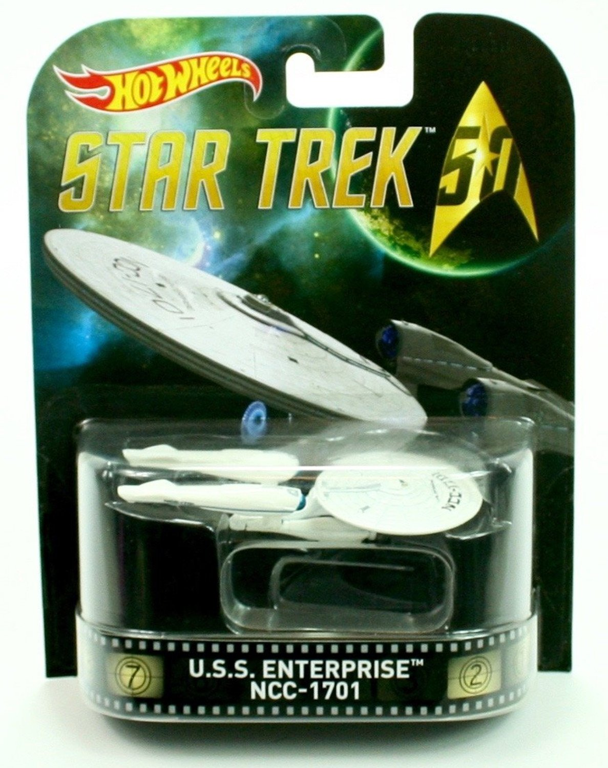 HOT WHEELS STAR TREK U.S.S. EMPRESA NCC-1701 RETRO