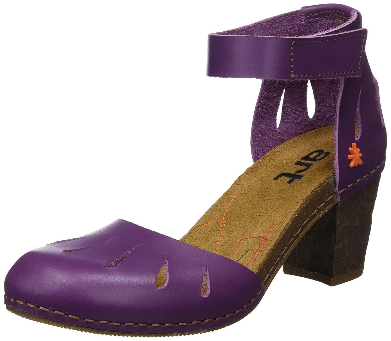 Morado (púrpura púrpura) Art 0144 Becerro, Sandalias con Punta Cerrada para mujer