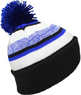 e55ee662f82 Dri-Wick Cable Knit Winter Pom Pom Beanie Hat in Team Colors (Iron ...