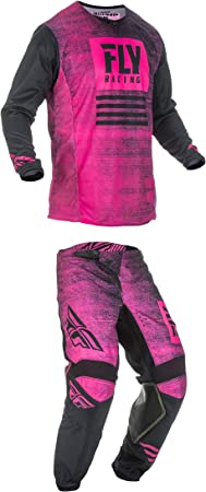 Fly Racing Kinetic Noiz Jersey Pants Combo Dirtbike Offroad MX Black Neon Green