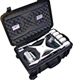 Case Club Pre-Cut Waterproof Drone Case with Wheels, Extension Handle & 2 Moisture Absorbing Silica Gel - Fits DJI…