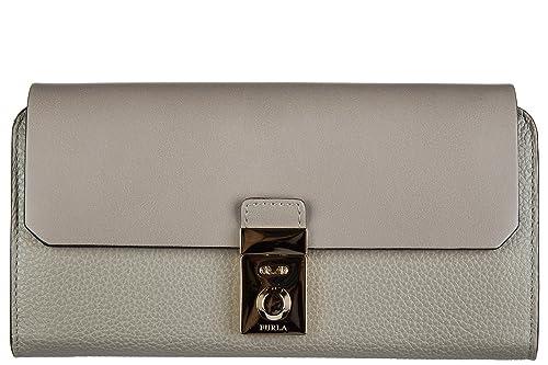 Furla monedero cartera bifold de mujer en piel nuevo milano gris: Amazon.es: Zapatos y complementos