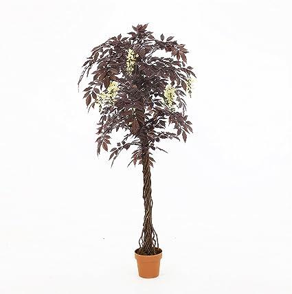 Calidad Árbol Japonés Floración Roja Artificial (Glicina Japonesa), Réplica Oficina Interior Al Aire