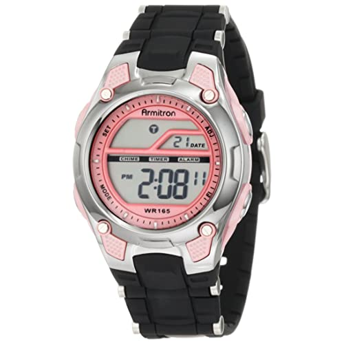 Armitron Sport Womens 45/6984 Digital Chronograph Resin Strap Watch