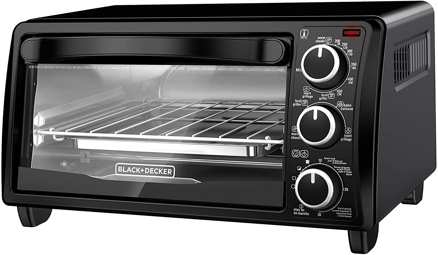 Black+Decker TO1313B Toaster Oven, 4-Slice