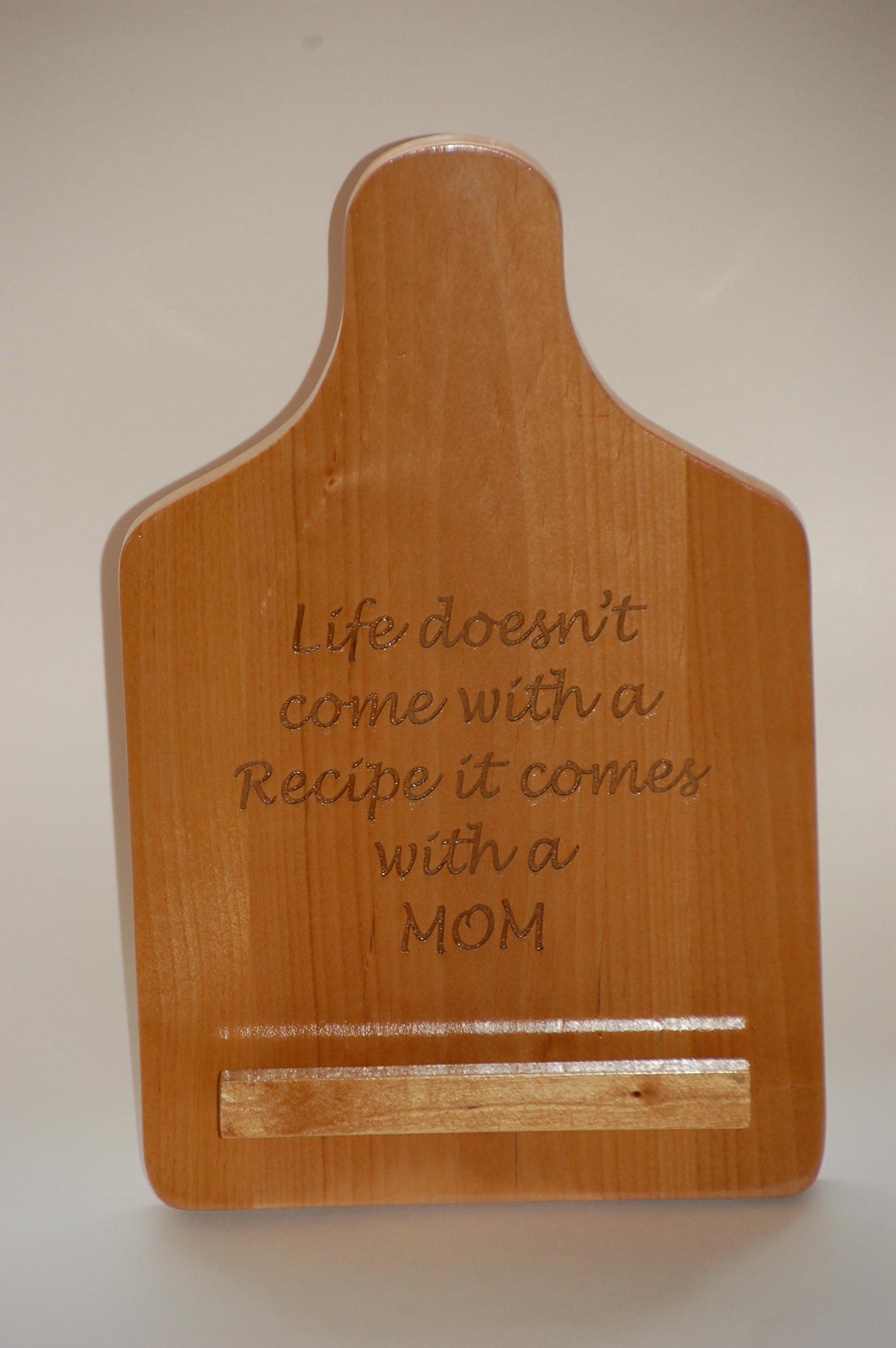Engraved Recipe Holder by Rodney Hoffmann