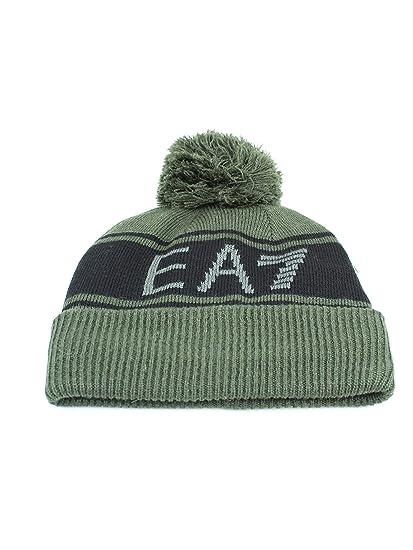 71b7e8ae4f2 Emporio Armani Ea7 Women s Emporio Ea7 Mount Beanie M Green at Amazon  Women s Clothing store
