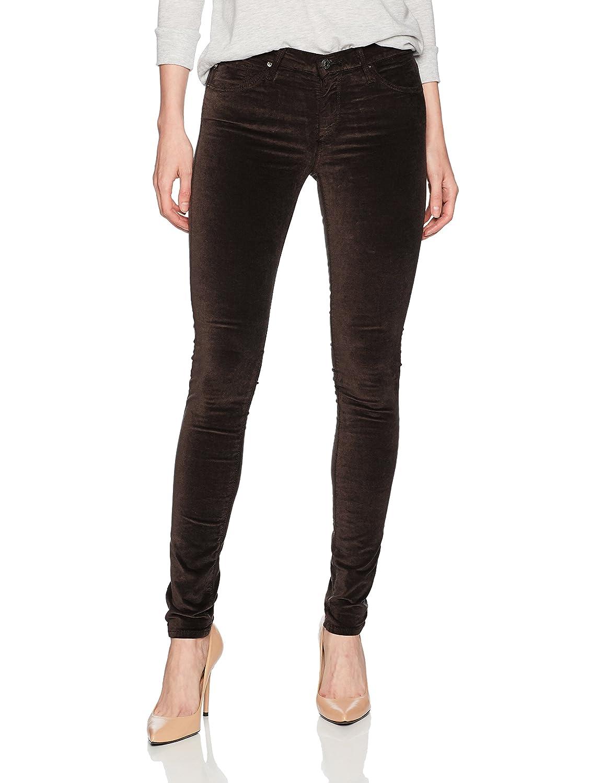 Dark Oakwood AG Adriano goldschmied Womens The Legging Skinny Opulent Stretch Velveteen Pants