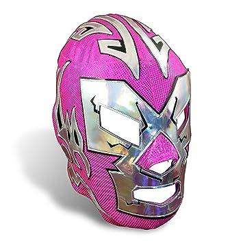 Dr. Wagner Jr. Mexican Pro-Wrestling Lucha Libre Lycra Mask Pink - Adult