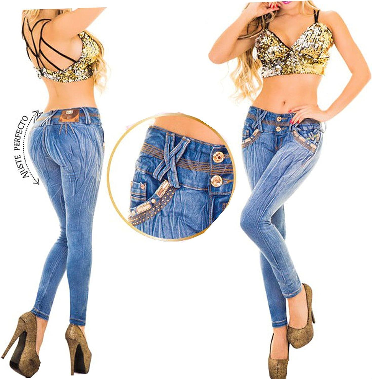 Hadabella Pantalon Jean Femme Colombien Premiun Wash Wonder Super Push Shape Up Denim Jeans Slim Fit Bleu 38 40 Amazon Fr Vêtements Et Accessoires
