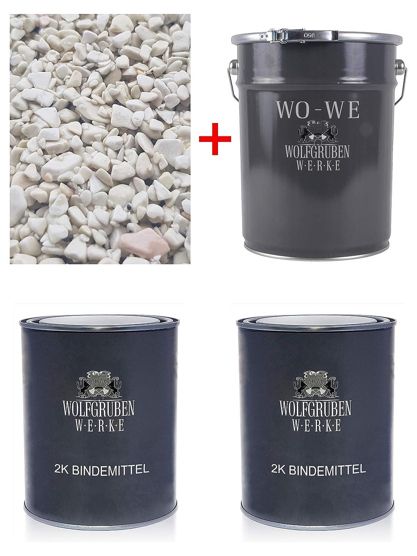 Ice blue 1,2-1,8 25Kg Steinteppich Marmorkies Bodenbeschichtung 2qm