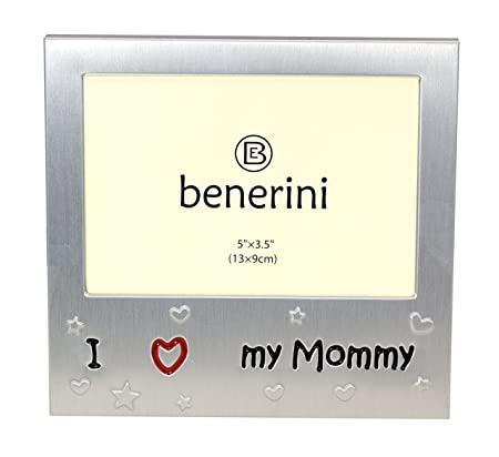 benerini \' I Love My Mommy \' - Photo Picture Frame Gift - 5 x 3.5 ...
