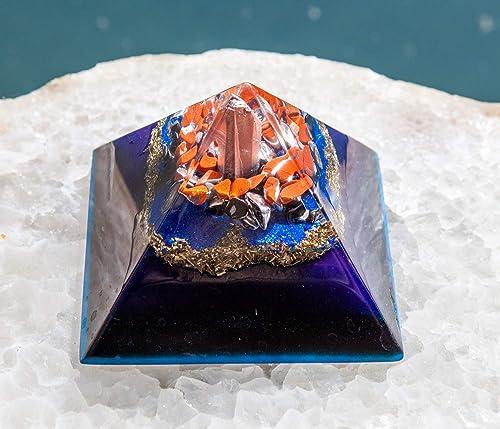 Shungite Orgonite Pyramid/Orgone EMF Protection Orgone Pyramid