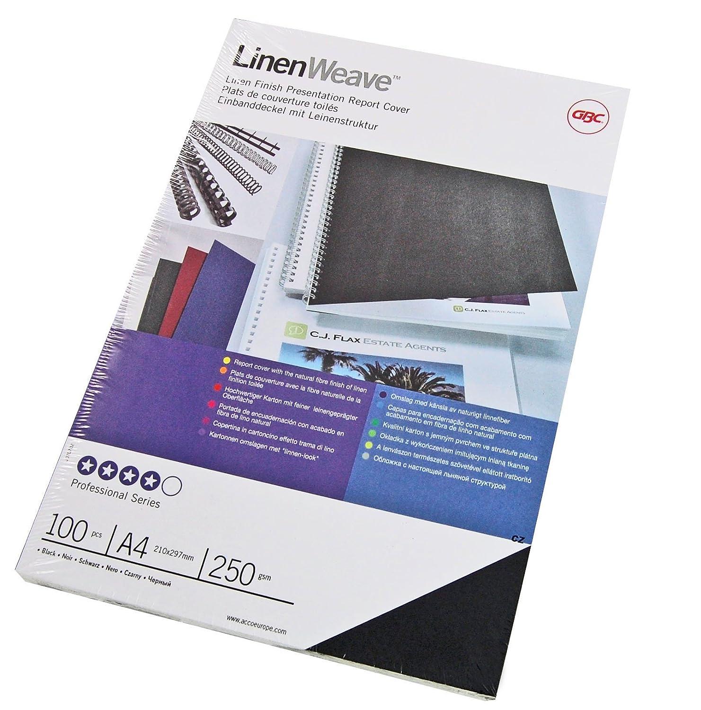 GBC CE050029 Copertine per Rilegatura Linenweave, 250 GSM, Confezione da 100, Blu Royal ACCO Brands 398773