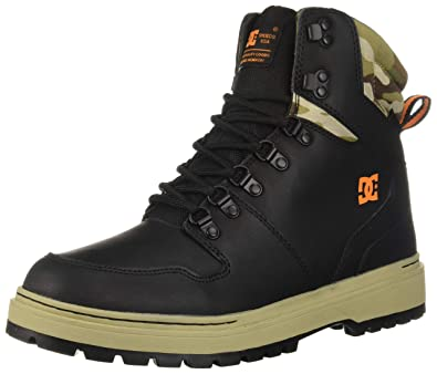 beff1f4d84be Amazon.com: DC Shoes Mens Shoes Peary Leather Boots Adyb700022: Shoes