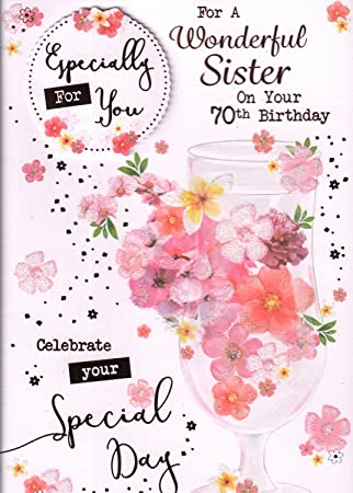 70th sister birthday card for a wonderful sister on your 70th 70th sister birthday card for a wonderful sister on your 70th birthday bookmarktalkfo Image collections