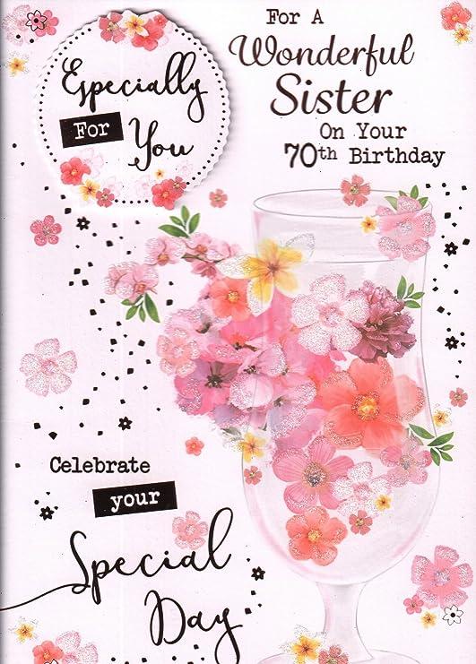 Tarjeta de cumpleaños 70 para hermanas: Para una ...