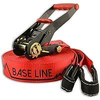 Slackline Industries Base Line Slackline - Kit Completo con Protección para Arboles. Perfecto para Principiante e Intermedios.