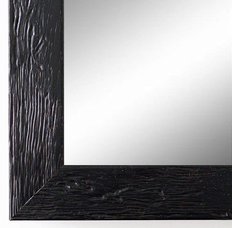 Online Galerie Bingold Spiegel Wandspiegel Badspiegel - Rimini Schwarz 3,0 - Handgefertigt - 200 Größen zur Auswahl - Modern, Landhaus, Shabby - 50 x 120 cm FM
