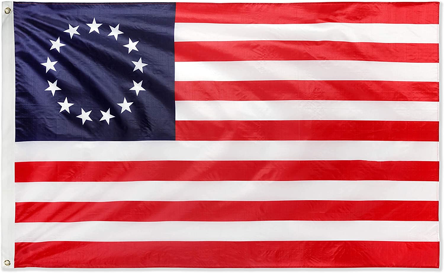 DANF Betsy Ross Flag 3x5ft - 100D Thicker Polyester - 13 Stars American USA America Historical Flags Double Sided Canvas Header with Brass Grommets Indoor & Outdoor Use