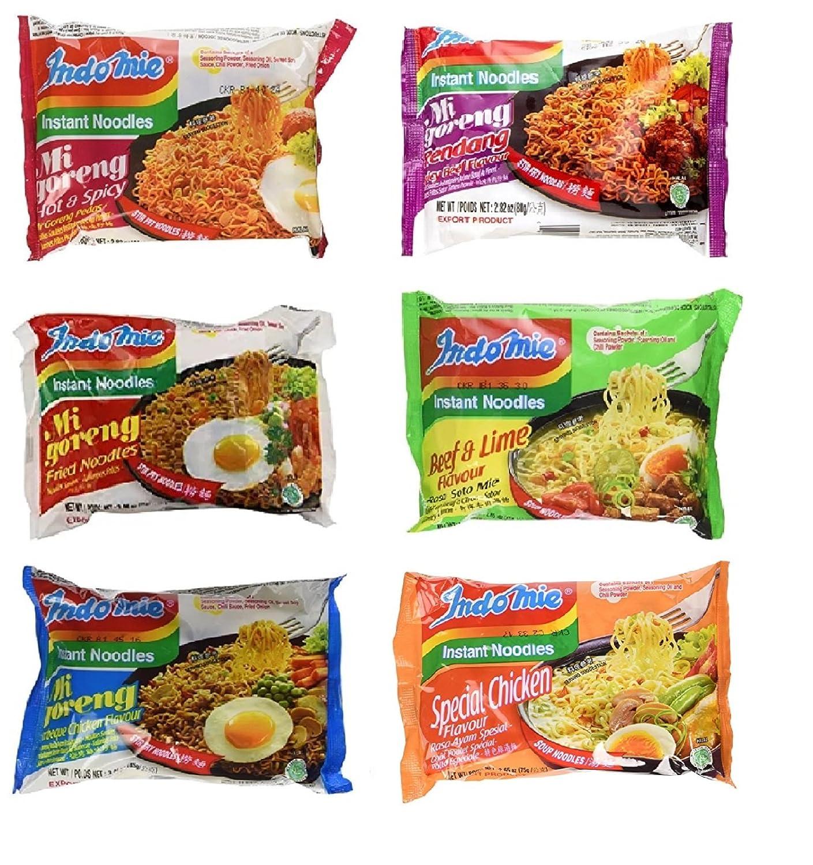 Indomie Variety Pack – 6 sabores en 1 funda (30 bolsas ...