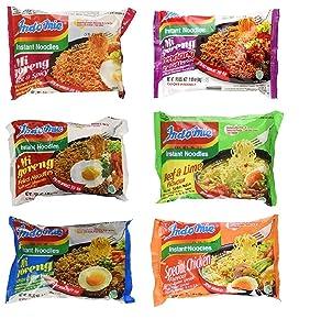 Indomie Variety Pack - 6 Flavors in 1 Case (30 Bags)